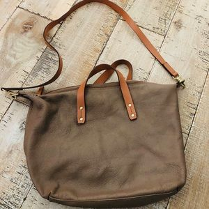 Gap two tones leather crossbody bag